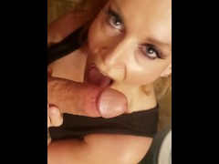 Son catches Cougar MILF Step Mom In Bathroom suck fuck CreamPie TABOO KINK