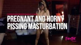 Euroslut 20 Weeks Pregnant and Horny Pissing Masturbation (Full Video)