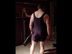Slave getting disciplined with a sadistic, vicious whip. Part 2