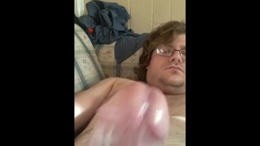 Stroking My Big Headed Cock Part 1