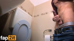 Hot Guy Masturbating Moaning Dirty Talk While Cumming In Public Toilet - 4K