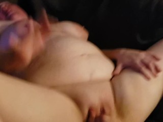 Dirty Talking BBW Gets Super Creamy With Her Purple Dildo