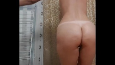 Naked yoga with cute blonde