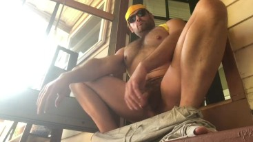 Beefy Stud Shooting Cum Load Inside Glass Outdoors