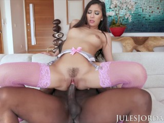 Sexy Soccer Cleats Fucking, Jules Jordan- GiannA Dior Comes Black For More Interracial Babe Big Dick