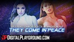 DigitalPlayground - Big tit lesbians Madison Ivy & Darcie Dolce lick ass
