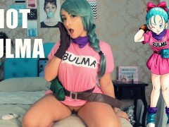 JOI PLAYING WITH BULMA COSPLAY JERK OFF INSTRUCTION ORGASM HITACHI