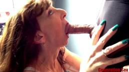 Petite Milf Blowjob Close Up Big Cock Swallow Keep Sucking