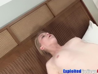 Young coed Ali riding hardcore cock and facial cumshot