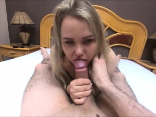 HARDCORE POV Blowjob from a Cute Girl Facecum – MaryCandy