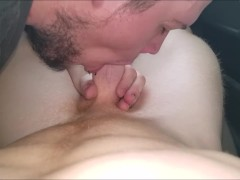 "19yo ""Ben"" Beer Can Redneck Ginger Gets Car Blowjob & Blows HUGE Cumshot"