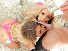 Strippers Nina Elle and Kissa Sins Fuck Lucky Guy!!