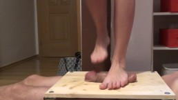Barefeet cock and balls trample stomping cruel torture - part1