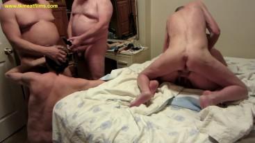 2019-04-21 Bisexual Swinger Slut Anal Orgy MMmf - fuckmeat Pulls a Train