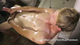 BIG UNCUT BLONDE DICK, PISS, PITS, FEET, FORESKIN & CUM!!!