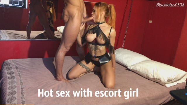 Red head escort Hot escort girl sucks dick and fucks hard