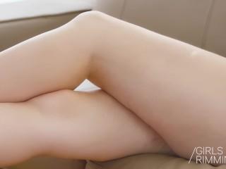 Analny rimming z gorącą blondynką mishą cross