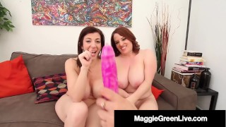 PAWG Milf Sara Jay Tongue Fucks Maggie Green & Miss Raquel!