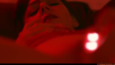Sensual in Red - Teaser for Upcoming Solo Vibrator Masturbation Movie