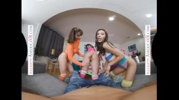 Naughty America – Brooklyn Gray, Gianna Dior, and Liv Wild have some dorm
