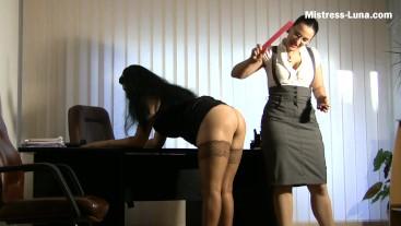 Secretary punishment - slave girl