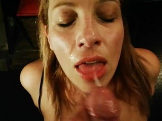 Italian shop assistant gives terrific POV blowjob to a lucky customer-REAL