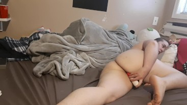 Chubby Teen Orgasms 4 Times, Crying After