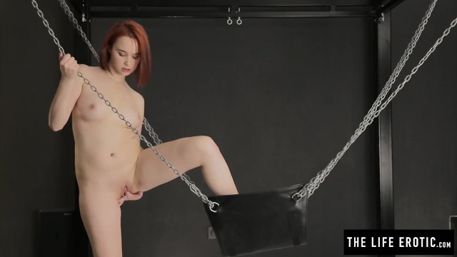 Metart nude in bed Shaved redhead cumming hard with feet in chains