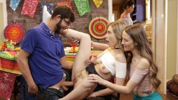 Cinco De Mayo Party, Sneaking A Threesome & StepSis Gets Creamed S2:E5