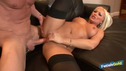 Big titted MILF gets pounded hard by older guy with big cock