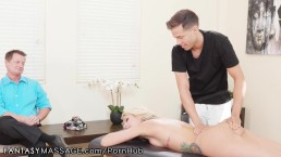 FantasyMassage He Booked His Hot Latina Wife a Dirty Massage!