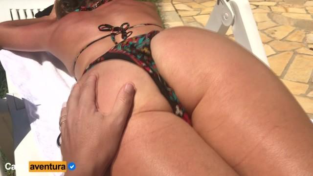 Sun bathing lesbians - Real amateur - milf sun bath and anal fuck