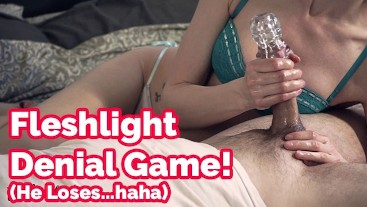 Don't say a word! Fleshlight cock tease, edging game & denial | Veronica