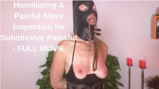 Slave Inspection for Submissive Painslut Face Slapping Cunt Kicking