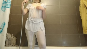 wetlook with white and transparent dresses