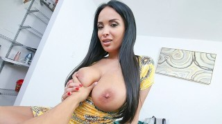 PervMom - Big Titty MILF Shows Off For Big Dick Stepson