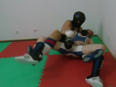"Extract from ""Balls Wrestling ballbusting"" (full video for sale here)"