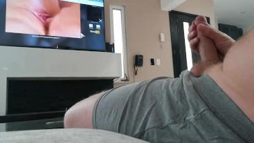 Watching Porn, Dirty Talking, Huge Cumshot