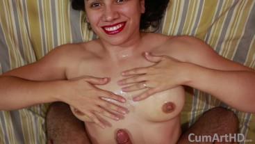 POV Handjob + Cum on tits!