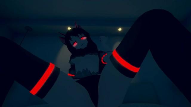 Sexy devil cartoon Virtual lap dance from the sexy anime devil
