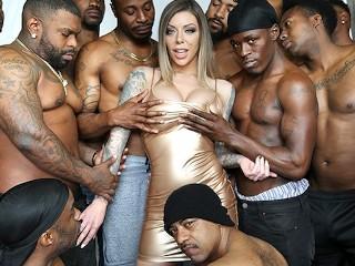 She Likes Dp Fucking, KarmA Rx Blows 13 Big Black Dicks Orgy Big Dick Blowjob Bukkake
