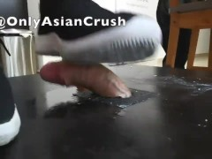 Singaporean chubby girl cock crush black sneakers