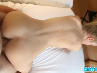 Date Slam – Pretty young blonde gets fucked on 1st date – Part 2