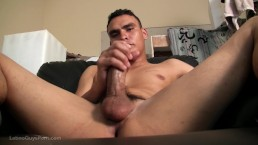 Hot Latino Papi Petrus Intense Jerks Off His Fat Cock