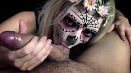 Sugar Skull Mia Casanova suck and fuck for facial on Cinco de Mayo