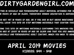 APRIL 2019 News at Dirtygardengirl site extreme anal prolapse & fisting