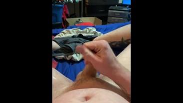 Jacking off my hard cock