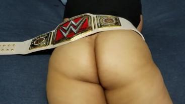 Massaging a young Latina thick ass.