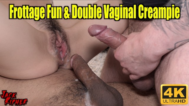 Lump in vaginal canal Frottage fun double vaginal creampie