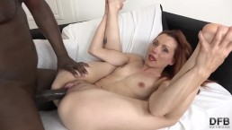 Sexy redhead milf fucked hard by black dude with big black dick